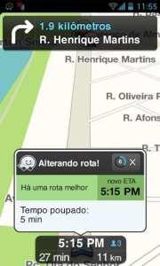 Review Waze GPS - rota mais rápida encontrada