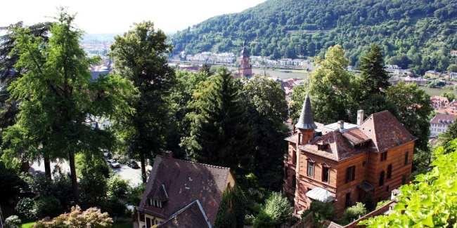 Guia de Heidelberg na Alemanha - Uma vista da cidade pelo castelo