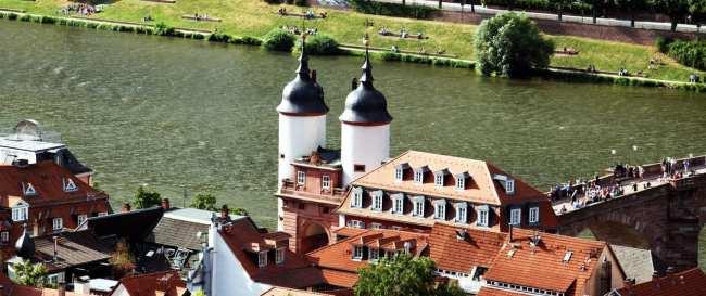 Guia de Heidelberg na Alemanha - Detalhe da Ponte velha