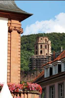 Guia de Heidelberg na Alemanha - A torre vista da Praça do Mercado