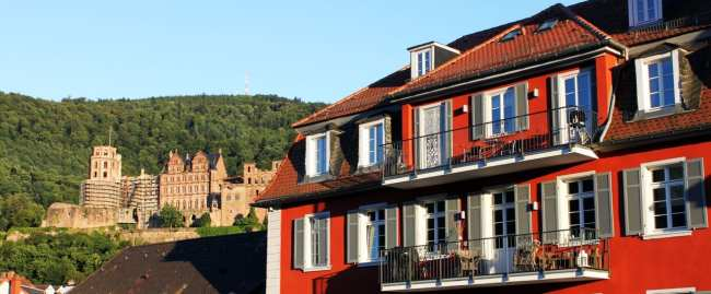 Guia de Heidelberg na Alemanha - Castelo visto de longe
