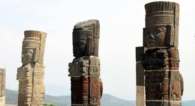 Pirâmides de Tula no México - Atlantes em detalhe
