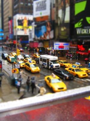 Times Square Nova York - Tilt Shift