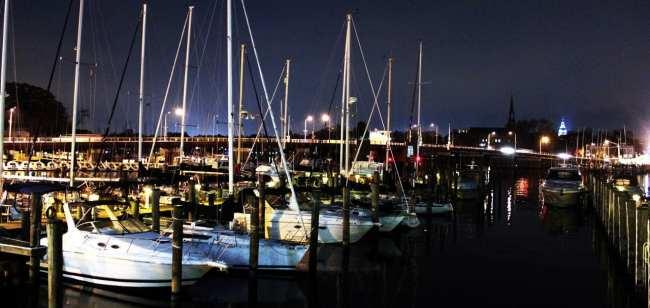 O que fazer em Annapolis - Marina de noite