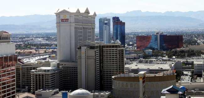 Las Vegas The LINQ - vista do alto da High Roller roda gigante