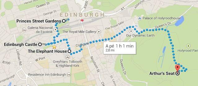 Roteiro de Edimburgo - mapa 1
