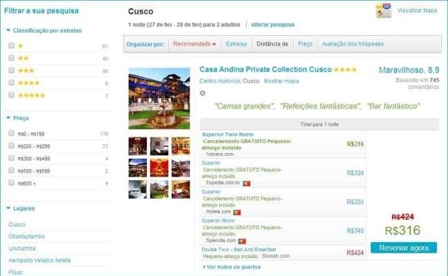 Detecta Hotel - Resultado da pesquisa