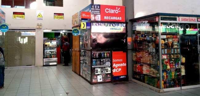 Internet 3G no Peru - Posto de recarga