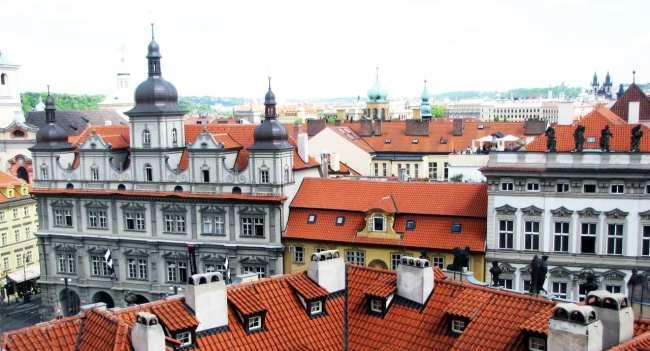 Malá Strana Praga - Vista de Malá Strana pela Igreja de São Nicolau