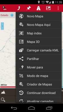 Melhor app de mapas offline - OruxMaps Botão Mapa Mundi