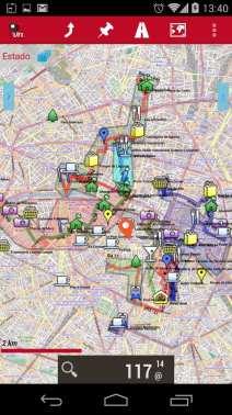 Melhor app de mapas offline - OruxMaps Pontos de interesse KML Mapa
