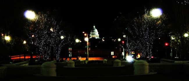 Capitólio de Washington - a noite cai