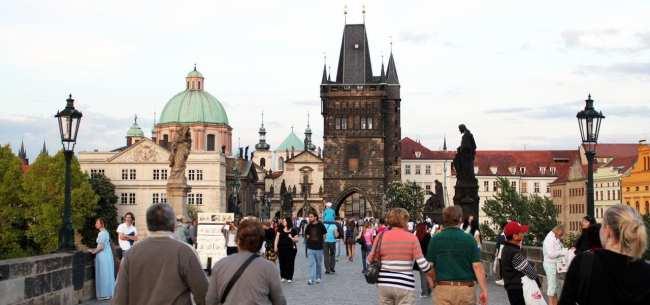 Ponte Carlos em Praga - Vista 8