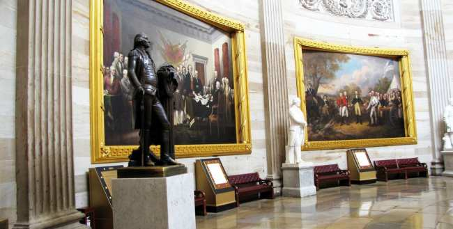 Capitólio de Washington - Obras de arte do Visitor's Center