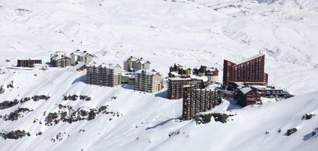 Guia de Valle Nevado - Complexo do resort no meio da montanha 2