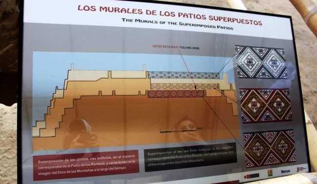 Sítios Arqueológicos de Trujillo - Huaca de la Luna 2 Paredes de diferentes tempos 2