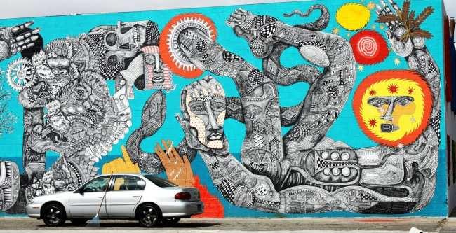 Walking Tour Downtown Vegas - Graffiti 4