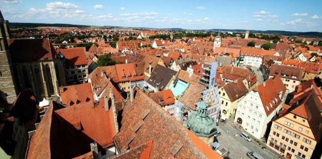 Rothenburg - Vista do alto da torre da prefeitura 1