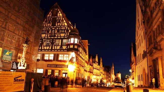 Rothenburg - Marktplatz de noite