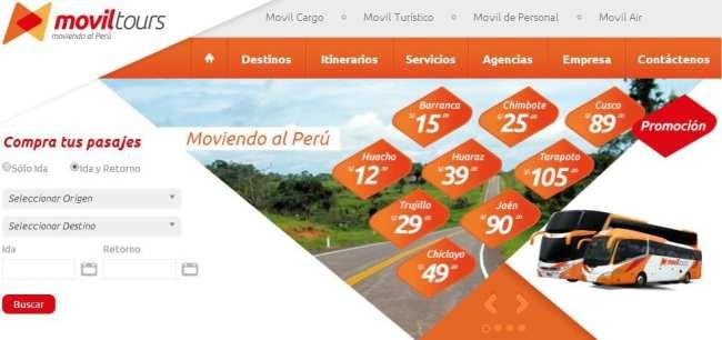 Viajar de ônibus no peru - Site Movil Tours