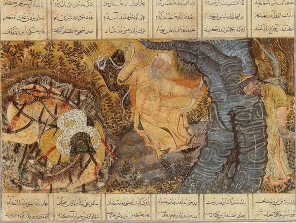"""The death of the hero Rustam and his horse Rakhsh"" - artista desconhecido"