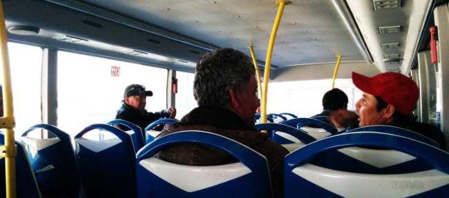 Como ir do aeroporto ao centro de Santiago - Interior do Tur-Bus 2