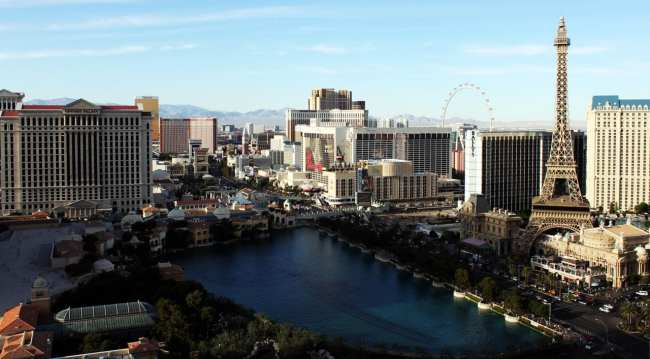 The Cosmopolitan Las Vegas - Vista para as fontes do Bellagio