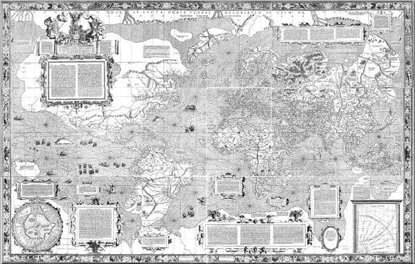 O mapa de Mercator, em 1569