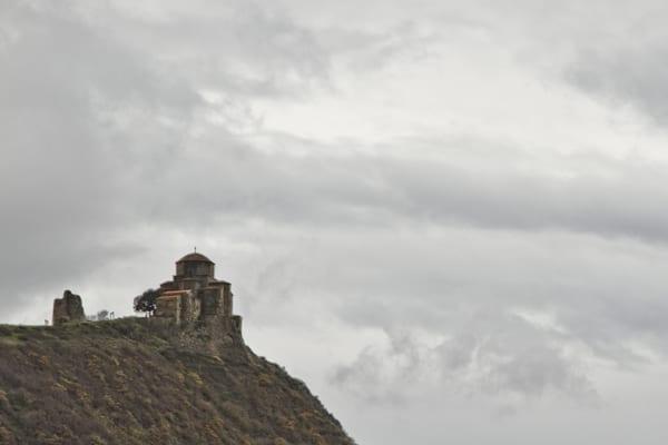 O mosteiro Jvari, que eu consegui fotografar da estrada