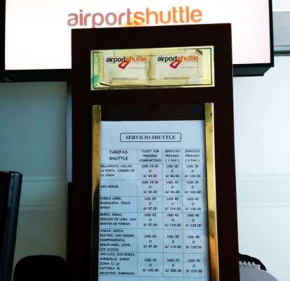 Como ir do aeroporto ao centro de Lima - Shuttle