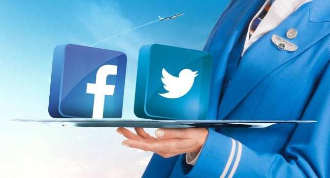 KLM nas redes sociais - Twitter e Facebook