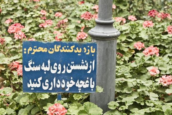 Esfahan flores placa