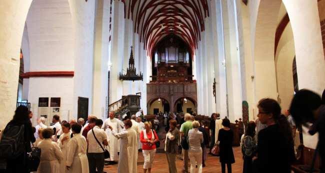 Roteiro de Leipzig - Igreja de Saint Thomas com a réplica do órgão que o Bach tocava