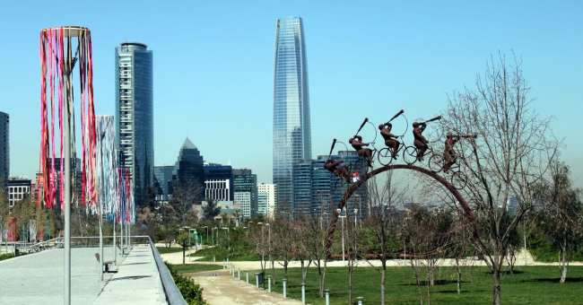 Como se locomover em Santiago - parques