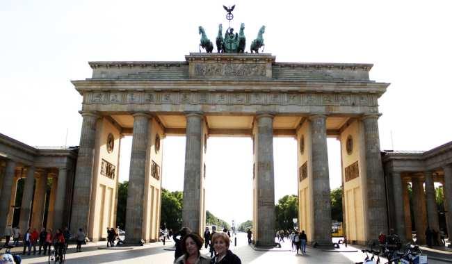 Bus 100 City Tour em Berlim - Portão de Brandenburgo