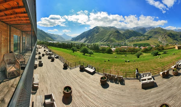 Vista do Rooms Kazbegi