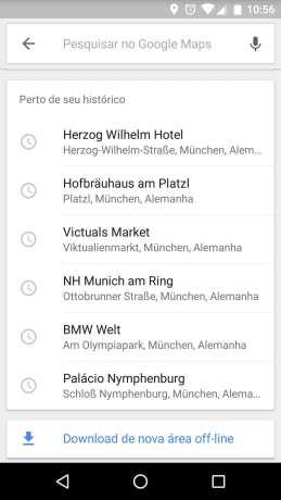 Novo Google Maps com mapas offline - 12