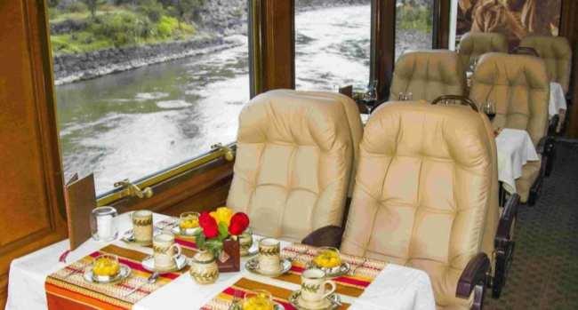 Inca rail trem para machu picchu - primeira classe