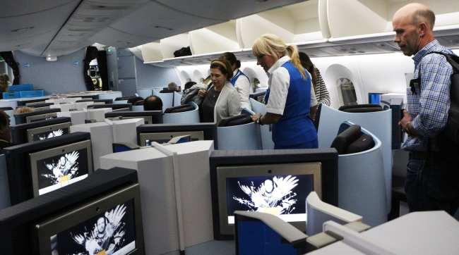 Como é voar de business class na KLM - 01