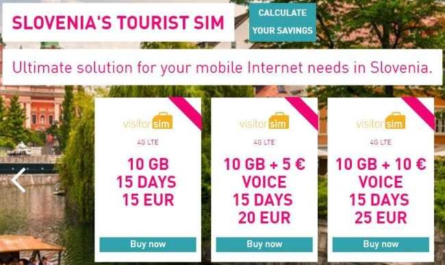 Como usar a internet 3G na Eslovênia - visitor sim - 08