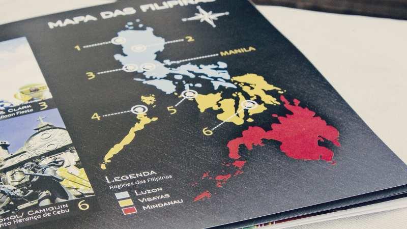 Mapa de regiões das Filipinas