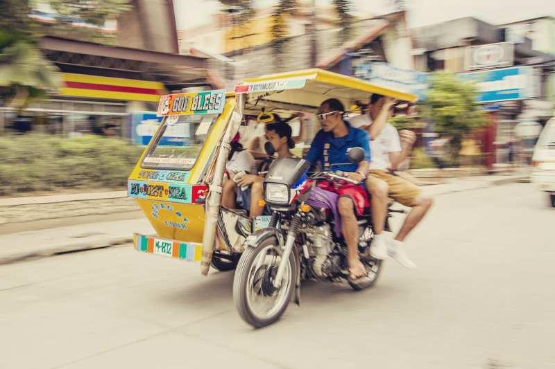 Transporte público em Boracay