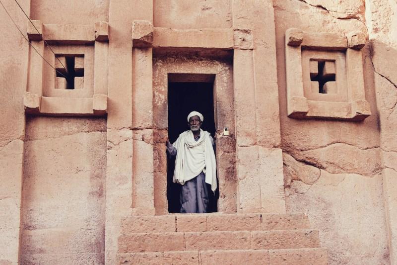 Igreja Abba Libanos, em Lalibela, Etiópia