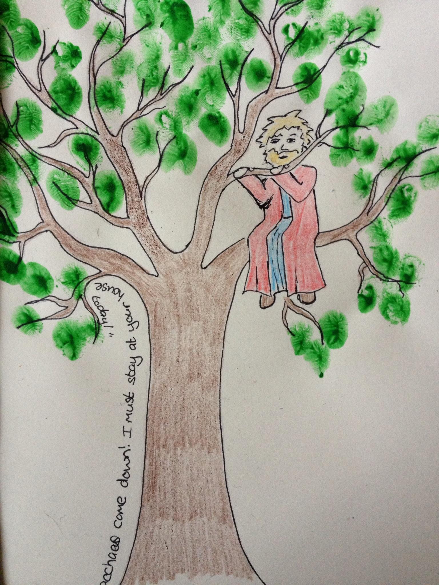 Zaccheus Tree Craft For Kids