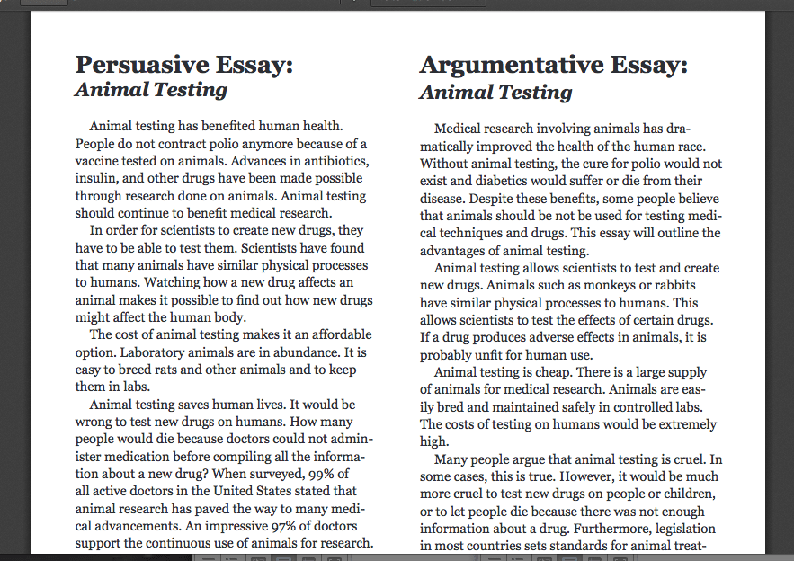 Animal rights argumentative essay