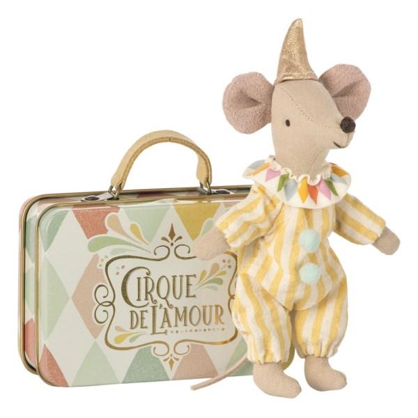 Maileg - Doudou Petite souris clown 1