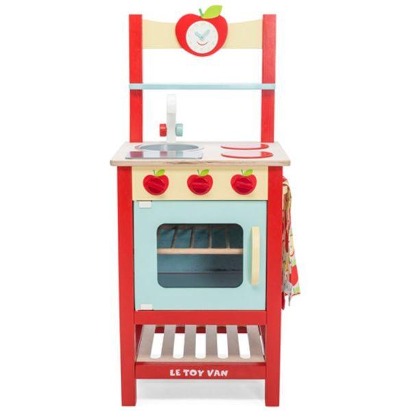 Le Toy Van - Cuisinière en bois rouge motif pommes 1