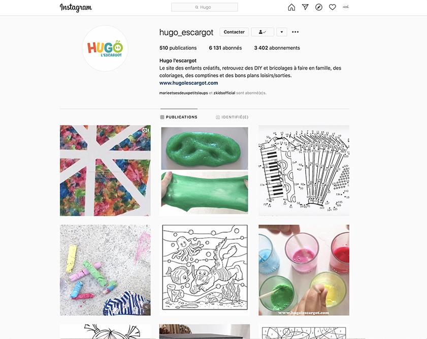 Mes comptes Instagram pour des activités d'enfants - Blog famille Sunday Grenadine