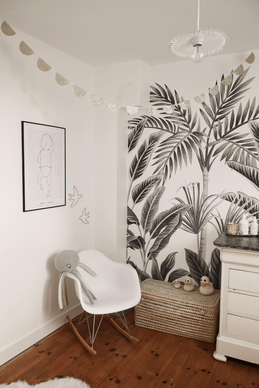 chambre bébé - coloris noir et blanc