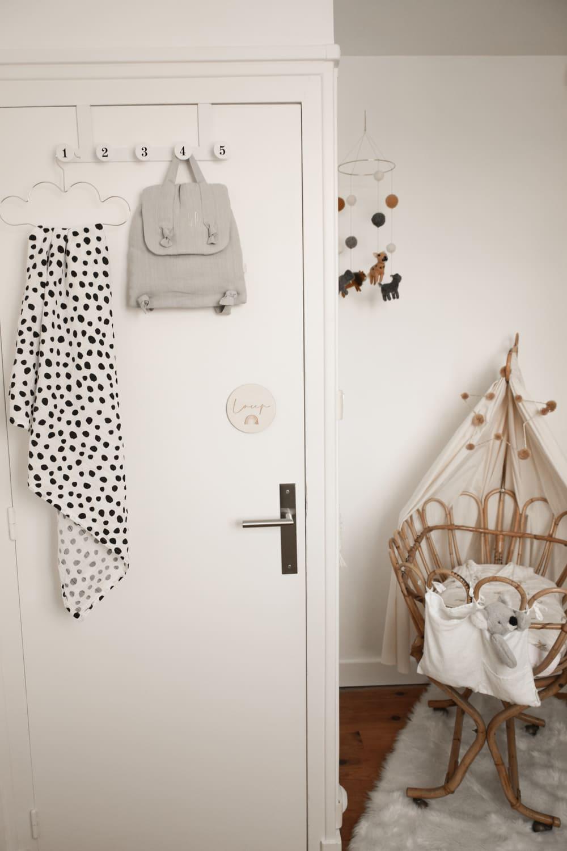Décoration d'une chambre d'enfant en noir et blanc